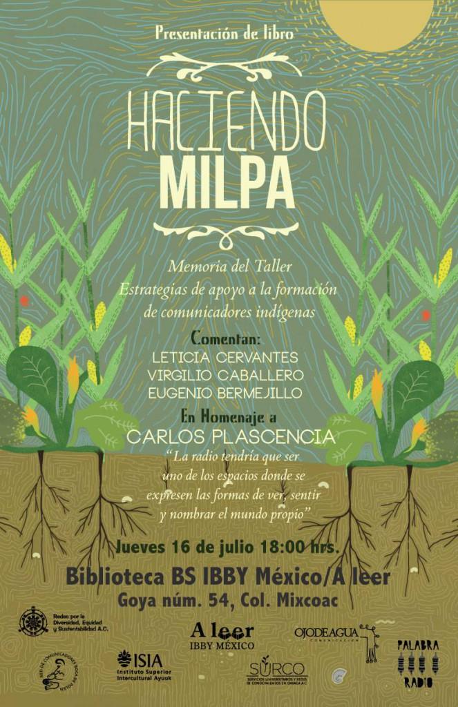 Poster Haciendo Milpa DF